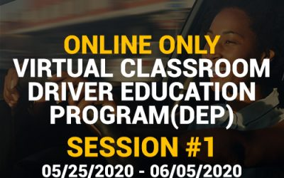 Online Driver Education Program – Session 1 | May 25 – June 05, 2020