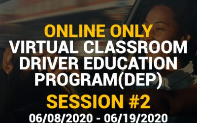 Online Driver Education Program – Session 2 | June 08-19, 2020