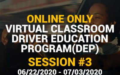 Online Driver Education Program – Session 3 | June 22 – July 03, 2020