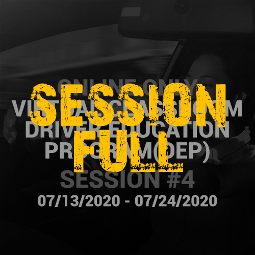 Online Driver Education Program – Session 4 |  July 13 – July 24, 2020
